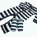 Starchild Luxury Stripey Baby Grow Gift Set