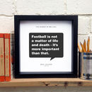 Personalised Gift For Him; Football Print
