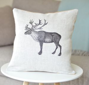 ' Caribou ' Linen Cushion