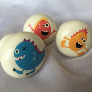 Children's Monster Mortice Door Drawer Cupboard Knob
