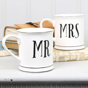 'Mr And Mrs' Mugs - mugs