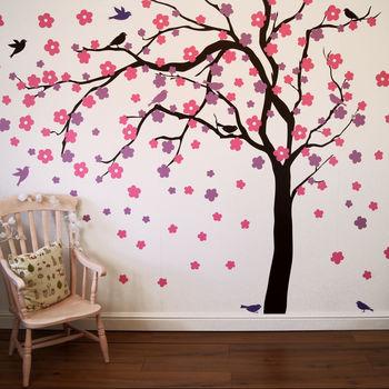 Summer Blossom Tree Wall Stickers