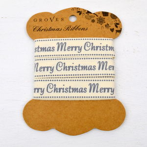 Merry Christmas Ribbon - cards & wrap