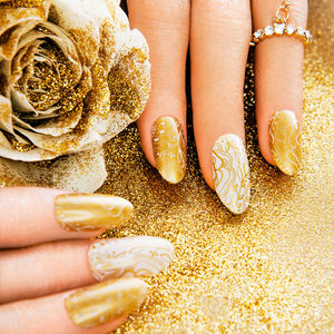 Honeybee Nail Wraps - statement sparkle