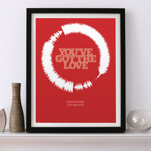 Personalised Music Soundwave Art Prints. Any Song - music-lover