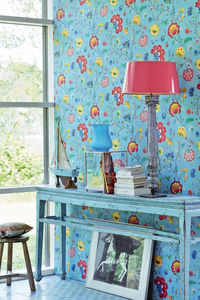 Light Blue Floral Fancy Wallpaper By Pip Studio - home decorating