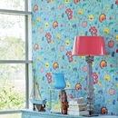 Light Blue Floral Fancy Wallpaper By Pip Studio