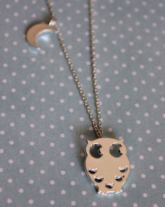 Owl And The Moon Necklace