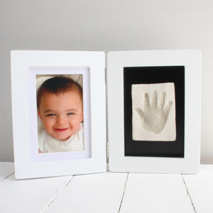 Baby Casting Hand Or Foot Imprint Kit And Photo Frame - nursery pictures & prints