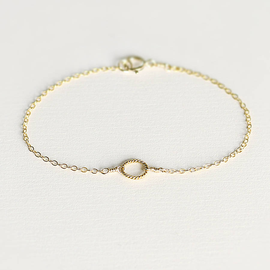 Delicate Gold Circle Bracelet By Minetta Jewellery