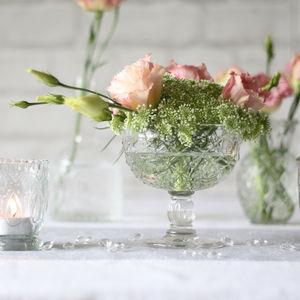 Pressed Glass Dessert Bowl