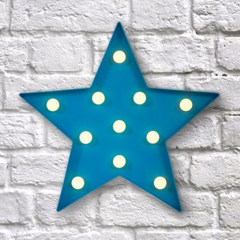 Blue Star Led Circus Fun Light By Frolic And Cheer