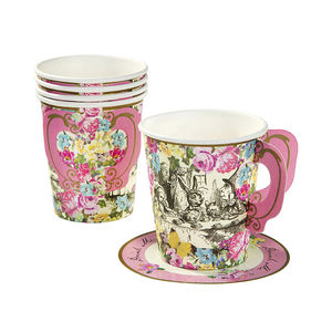 Alice In Wonderland Cups And Saucers - summer parties