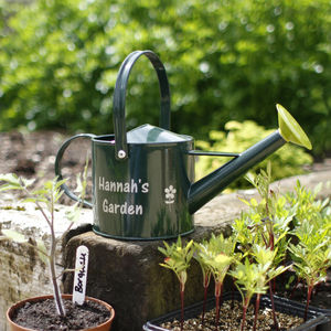 Personalised Green Watering Can - garden