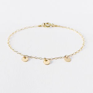 Tiny Gold Coin Bracelet - contemporary jewellery