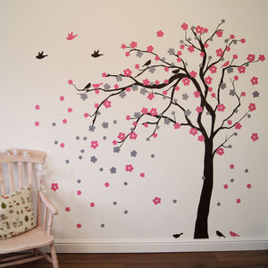 Floral Blossom Tree Wall Stickers - wall stickers by room