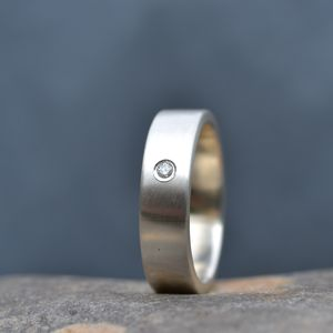 Handmade Men's Silver Engagement Ring - men's jewellery