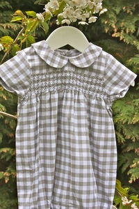 Hand Smocked Cotton Romper Wilfred - view all sale items