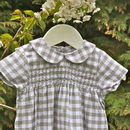 Hand Smocked Cotton Romper Wilfred