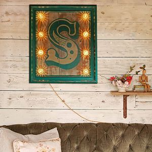 Light Up Letter 'S' Sign - children's decorative accessories