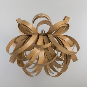 Giant Butterfly Pendant Wooden Chandelier - lampshades