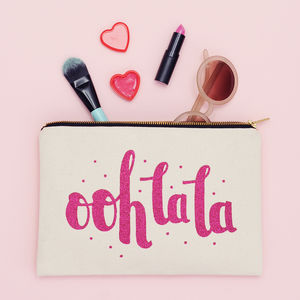 'Ooh La La' Glitter Pouch - gifts for her