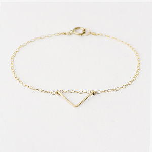 14k Gold Fill Chevron Bracelet - contemporary jewellery