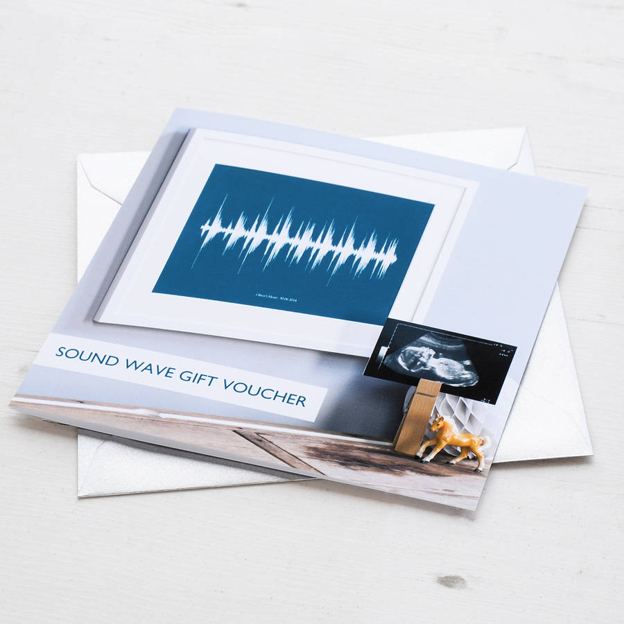 Gift Voucher For Personalised Sound Wave Print