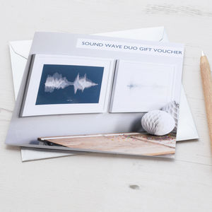 Gift Voucher For Pair Of Personalised Sound Wave Prints