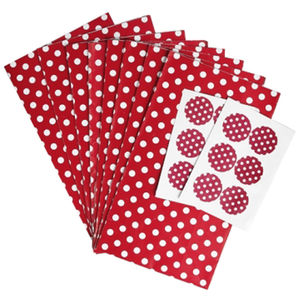 Red Retro Spot Party Bags