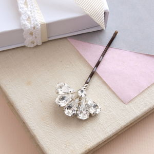Crystal Fan Bridal Or Party Hair Pin