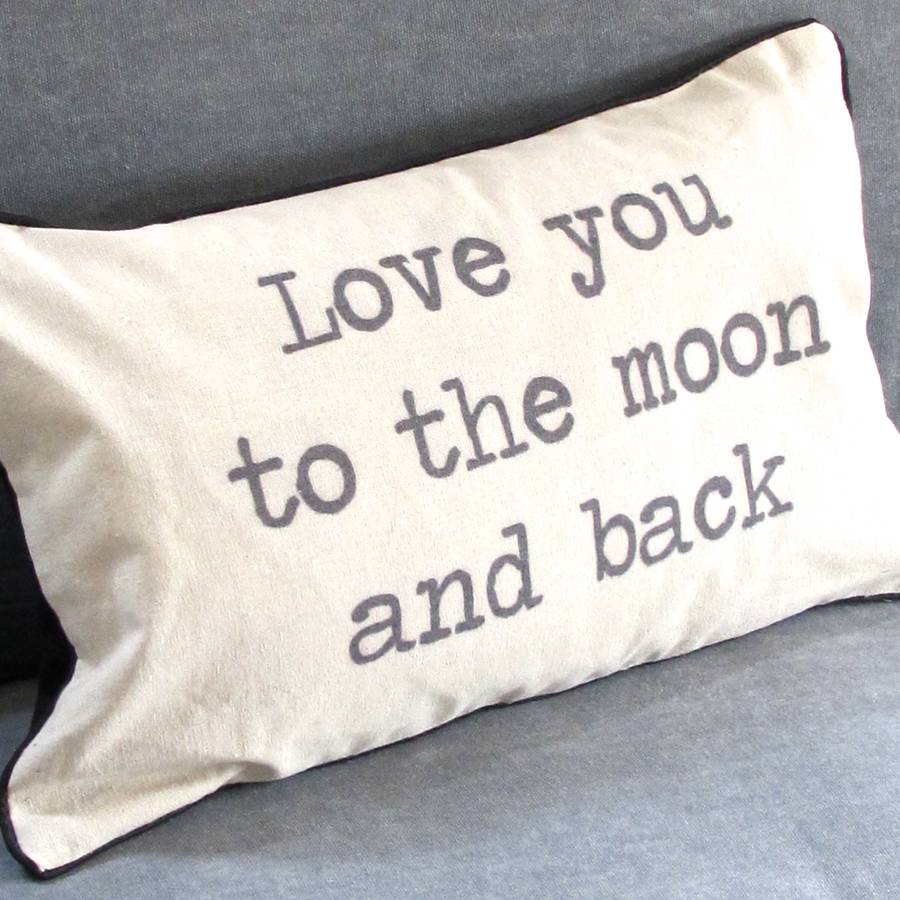 39 love you to the moon and back 39 cushion by chapel cards. Black Bedroom Furniture Sets. Home Design Ideas