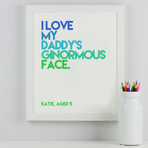 Personalised Child's Quote Print - view all father's day gifts