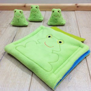 Frog Fabric Play Set Bag
