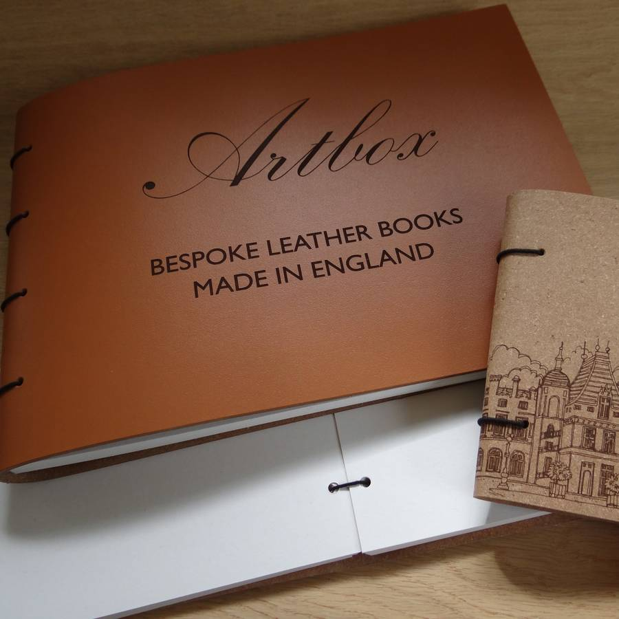 Bespoke Engraved Leather Guest Book And Photo Album