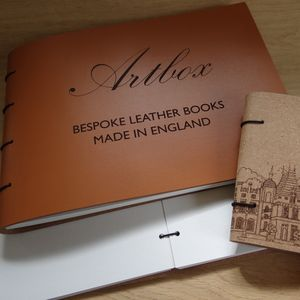 Bespoke Engraved Leather Guest Book And Photo Album - personalised