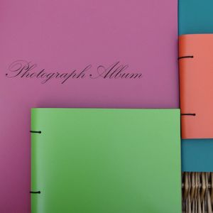Large Engraved Leather Album