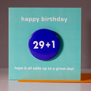 30th Birthday Card With Badge - birthday cards