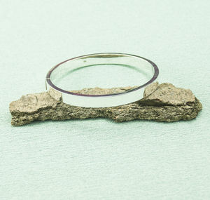 Silver Hinged Bangle - bracelets