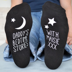 Bedtime Story Glow In The Dark Socks - gifts from younger children