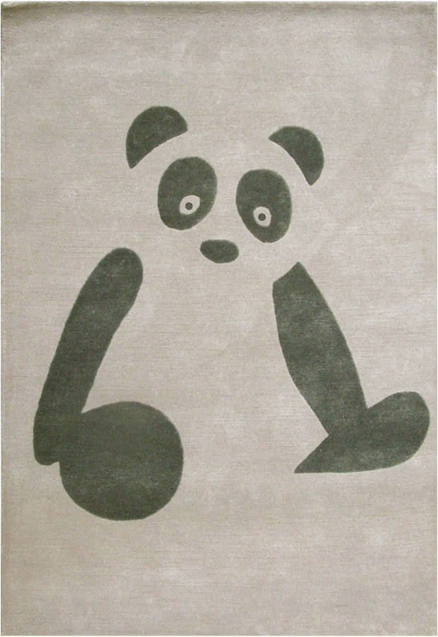 childrens rug panda by cotswold mat company