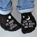 Love You To The Moon Glow In The Dark Socks