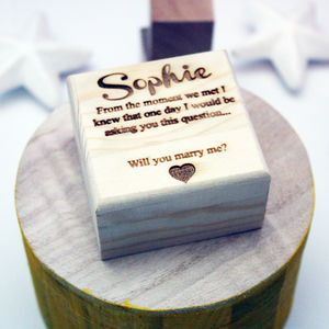 Personalised Proposal Ring Box - women's jewellery