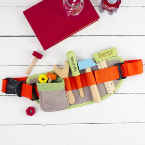 Personalised Toy Tool Belt - traditional toys & games