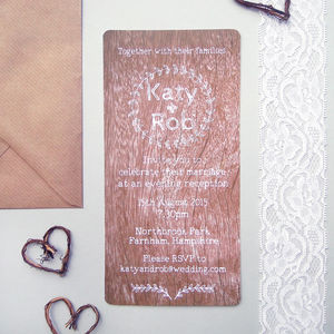 Woodland Barn Evening Wedding Reception Invitation - wedding stationery