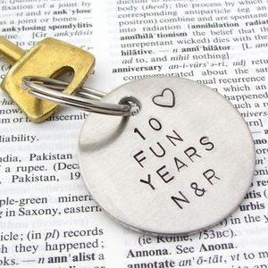 Personalised Years Together Anniversary Keyring - shop by occasion