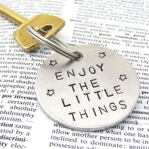 Personalised Positive Message Quote Keyring - men's accessories