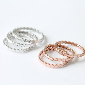 Set Of Three Stacking Rings - rose gold jewellery