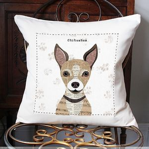 Chihuahua Personalised Dog Cushion Cover