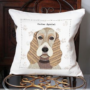 Cocker Spaniel Personalised Dog Cushion Cover - cushions